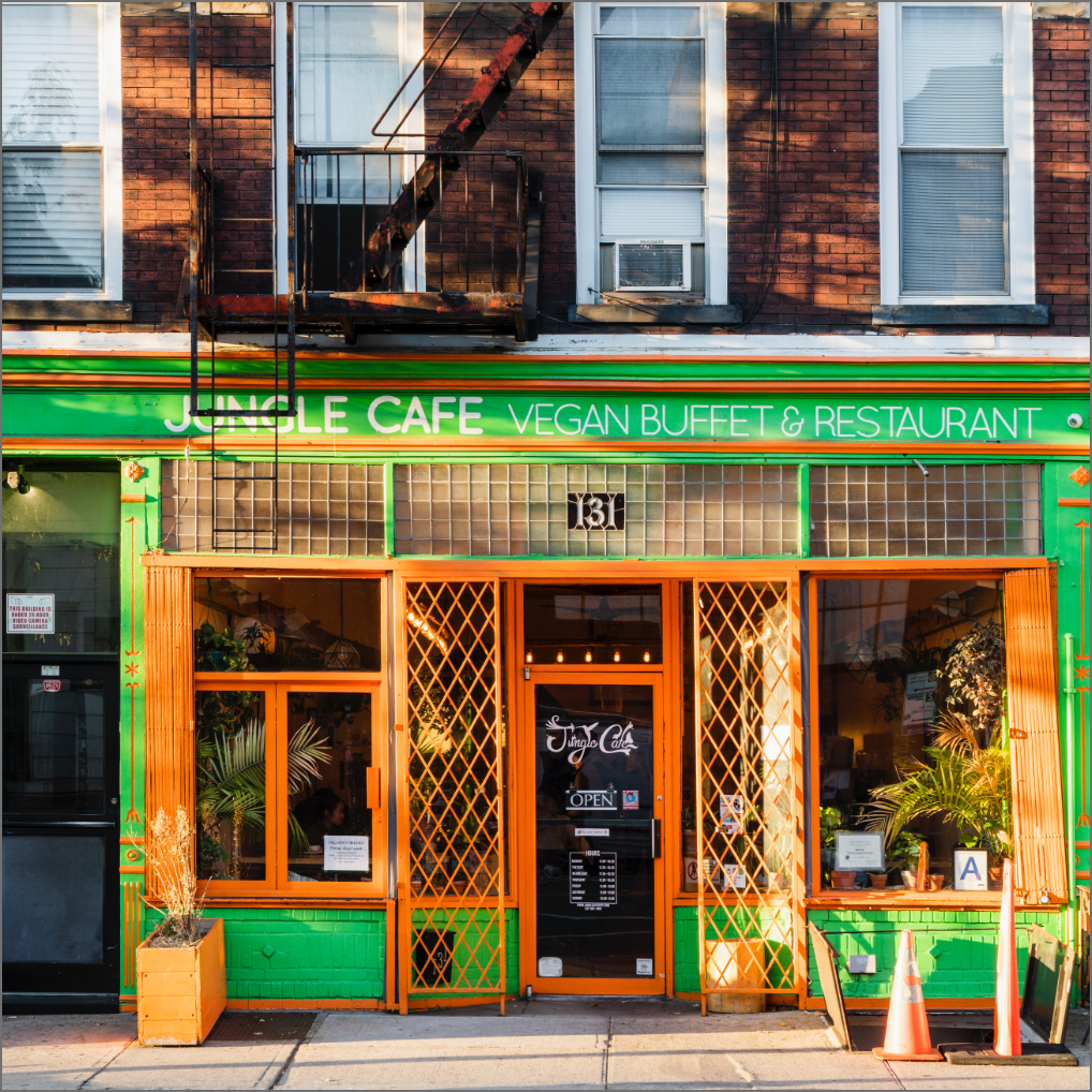 jungle cafe vegan restaurant near greenpoint landing brooklyn two blue slip apartments