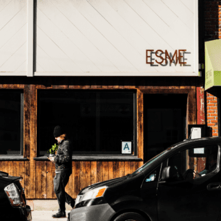 esme bar in greenpoint landing brooklyn near two blue slip apartments