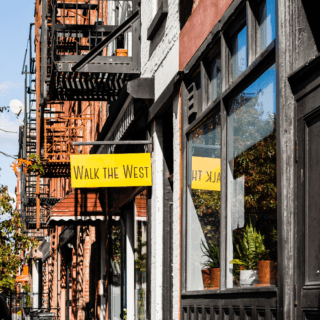 walk the west greenpoint brooklyn shop near two blue slip apartments